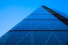 Futuristic skyscraper in glass and steel Stock Image