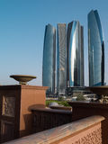 The futuristic skyscrapers in Abu Dhabi Royalty Free Stock Photography