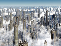 Futuristic Skyscrapers Royalty Free Stock Images