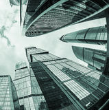 Futuristic skyscrapers of glass and metal Royalty Free Stock Images