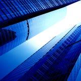 futuristic skyskrapor Royaltyfri Fotografi