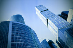 futuristic skyskrapor Royaltyfri Foto