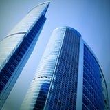futuristic skyskrapor Arkivfoto