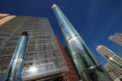 futuristic skyskrapor Royaltyfria Bilder