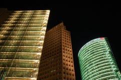 futuristic skyskrapor Arkivbilder