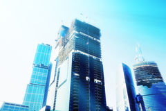 futuristic skyskrapor Arkivbild