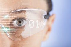 Futuristic smart glasses Stock Photos