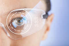 Futuristic smart glasses Royalty Free Stock Photography
