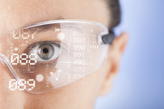 Futuristic smart glasses. Wearable technology Stock Photos