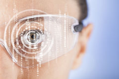 Futuristic smart glasses Stock Images