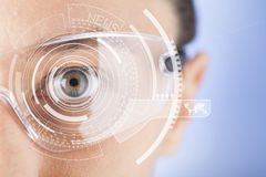 Futuristic smart glasses royalty free stock photo