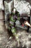 futuristic soldat Arkivfoto