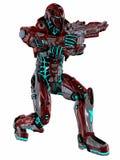 futuristic soldat Arkivbilder