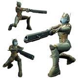 futuristic soldat Arkivfoton