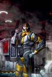 futuristic soldat för armor Royaltyfri Bild