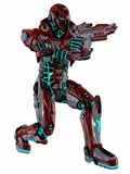 Futuristic soldier. 3d render of a Futuristic soldier Stock Images