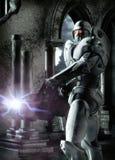 Futuristic soldier. A futuristic soldier male in 3d Stock Images