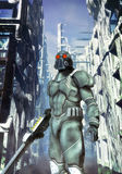 Futuristic soldier space marines Royalty Free Stock Images