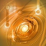 Futuristic space background. Futuristic background with concept technology, vector illustration Stock Image