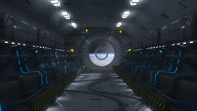 Futuristic space bay and seats Stock Images