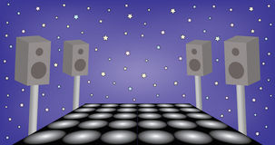 Futuristic space for dance party Stock Photo