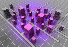 Futuristic space scifi city structure concept Royalty Free Stock Photography