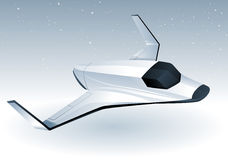 Futuristic Spaceship. Futuristic space ship with moon in the background Stock Photography