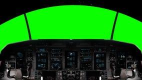 Futuristic Spaceship Cockpit on a Green Screen