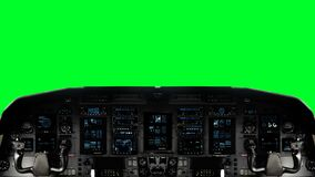 Futuristic Spaceship Cockpit on a Green Screen Background on a Green Screen