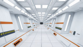 Futuristic spaceship interior corridor Royalty Free Stock Photo