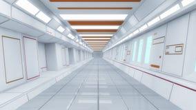 Futuristic spaceship interior corridor Stock Image