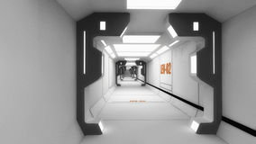 Futuristic spaceship interior corridor Royalty Free Stock Images