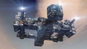 Futuristic spaceship UFO Royalty Free Stock Image