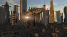 Futuristic spaceship UFO Royalty Free Stock Photo