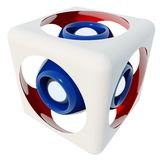 Futuristic speaker. In a box, 3d rendered image Royalty Free Stock Image