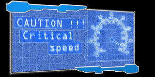 Futuristic speedometer Stock Photography