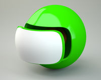Futuristic sphere with blank label Stock Images