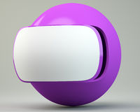 Futuristic sphere with blank label Royalty Free Stock Photo