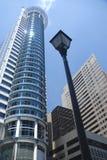 futuristic stå hög för skyskrapa Arkivbilder