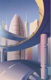 futuristic stad Fotografering för Bildbyråer