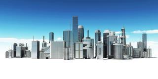 futuristic stad Royaltyfri Fotografi