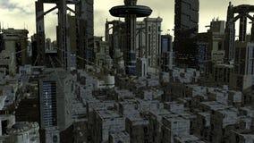 futuristic stad Royaltyfria Bilder