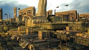 futuristic stad Royaltyfri Foto