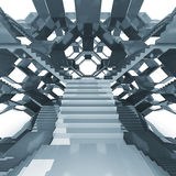 Futuristic staircase architecture structure composition Stock Photos