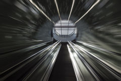 Futuristic stairs of Subway system Stock Photography