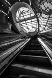 Futuristic stairs of Warsaw Subway system Stock Images