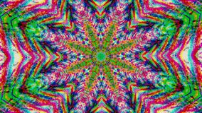 Futuristic star mandala, vibrant motion graphic for webpunk projects.