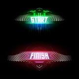 Futuristic start and finish flags Stock Photo