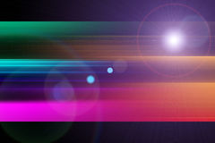Futuristic stripe background design with lights Stock Photography