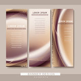 Futuristic style banner template design Stock Photos